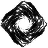 Нервный, угловой monochrome геометрический элемент Абстрактные графики Стоковые Фото