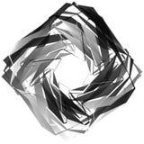 Нервный, угловой monochrome геометрический элемент Абстрактные графики Стоковые Изображения RF