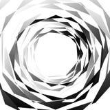 Нервный, угловой monochrome геометрический элемент Абстрактные графики Стоковые Фотографии RF