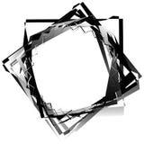 Нервный, угловой monochrome геометрический элемент Абстрактные графики Стоковая Фотография RF