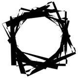 Нервный, угловой monochrome геометрический элемент Абстрактные графики Стоковое Изображение
