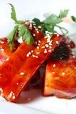 нервюры свинины меда sauce томат Стоковая Фотография RF