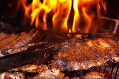 Нервюры BBQ стоковая фотография
