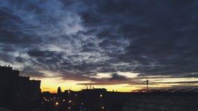 Нереальный восход солнца стоковое изображение