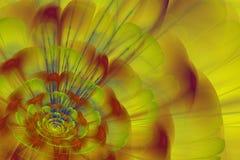 Нерезкости фрактали на желтой предпосылке Стоковое Изображение