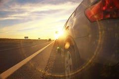 Нерезкость автомобилей перемещения шоссе осени стоковая фотография rf