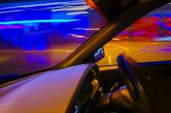 Нерезкость движения автомобиля Стоковые Фото