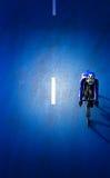 Нерезкость движения велосипедиста во время гонки Стоковые Фотографии RF