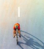 Нерезкость движения велосипедиста во время гонки Стоковая Фотография RF