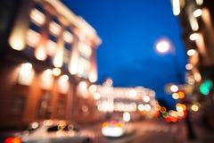 Нерезкость движения дороги города Предпосылка ночи стоковое изображение rf