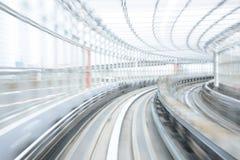 Нерезкость движения японского железнодорожного тоннеля Стоковое фото RF