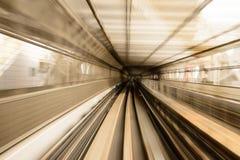 Нерезкость движения японской железной дороги Стоковая Фотография