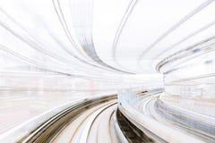 Нерезкость движения японской железной дороги Стоковое фото RF