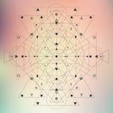 Нерезкость геометрии священная Стоковая Фотография