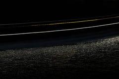 Нерезкость движения корабля в море Bosphorus, Стамбула на ноче Стоковое Изображение