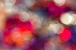 Нерезкость от светов автомобилей на дороге на ноче Стоковая Фотография RF