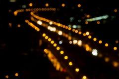 Нерезкость света на ноче Стоковая Фотография RF