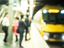 Нерезкость для вокзала и железных дорог Стоковое фото RF