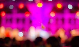 Нерезкость bokeh предпосылки концерта музыки Стоковые Изображения
