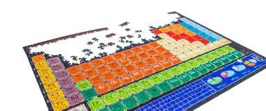 Нерешённая головоломка химической периодической таблицы Стоковое Фото