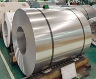 Нержавеющая свернутая стальная катушка в производстве, индустрии металлического листа стоковое фото rf
