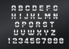 Нержавеющая сталь английского шрифта сильная смелейшая Стоковые Изображения RF