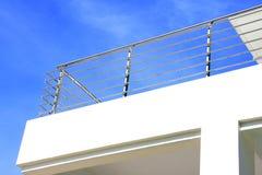 нержавеющая сталь рельса предохранителя балкона Стоковое Изображение RF