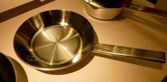 нержавеющая сталь сковороды Стоковые Фотографии RF