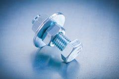 Нержавеющее screwbolt с шайбой болта и Стоковое фото RF