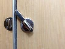 Нержавеющий болт двери запертые уборного в гостинице Стоковое Изображение