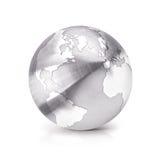 Нержавеющий север и Южная Америка иллюстрации глобуса 3D составляют карту Стоковое фото RF