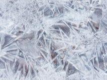 Неровная текстура льда Стоковое Изображение RF