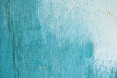 Неровно покрашенная стена с пятнами покрашенная стена текстуры абстрактная синь предпосылки Стоковые Изображения