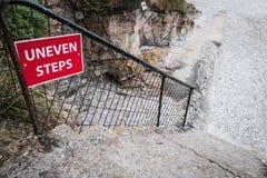 Неровные шаги Стоковая Фотография