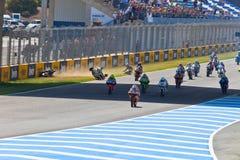 Неровный начните гонки 125cc чемпионата CEV Стоковое Изображение RF