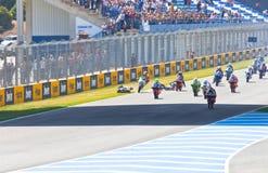 Неровный начните гонки 125cc чемпионата CEV Стоковые Изображения RF