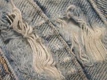 несенная текстура grunge джинсовой ткани Стоковые Фотографии RF