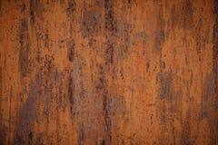 Несенная темнотой ржавая предпосылка текстуры металла стоковая фотография rf