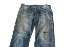 Несенные вне старые джинсы Стоковое Фото