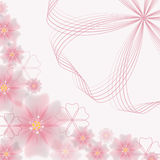 Несимметричная абстрактная флористическая предпосылка - иллюстрация вектора Стоковое Изображение RF