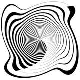 Несимметричная спиральная форма изолированная на белизне Солдат нерегулярной армии, концентрический бесплатная иллюстрация