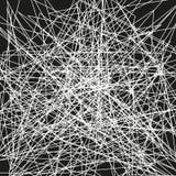 Несимметричная текстура с случайными хаотическими линиями, абстрактная геометрическая картина Абстрактная сеть, запутанная сетка  Стоковое Изображение RF