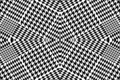 Несимметричная checkered скачками печать зуба гончих с английскими мотивами Стоковая Фотография