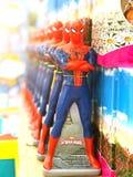 Несколько игрушек человека паука святой России ресторана Паыля peter petersburg крепости летания голландца 10-ое ноября 2017 Стоковые Фото