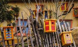 Несколько красочных домов птицы Стоковая Фотография RF