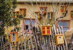 Несколько красочных домов птицы Стоковое Изображение