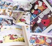 Несколько красочных страниц от книг Moomin Стоковое Изображение