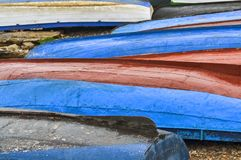 Несколько рыбацких лодок стоковые фотографии rf