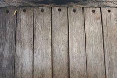 Несколько старых деревянных плит которые прикалываны с ногтями Стоковые Фотографии RF