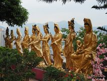 Несколько статуй около 10 тысяч монастыря buddhas стоковые фото